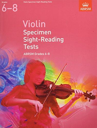 Violin Specimen Sight-Reading Tests, ABRSM Grades 6-8 By DIVERS AUTEURS