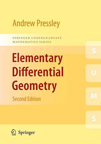 Elementary Differential Geometry By A.N. Pressley