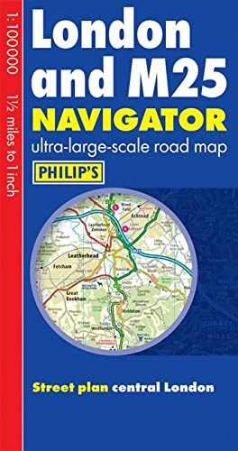 Philip's London and M25 Navigator Road Map By N a