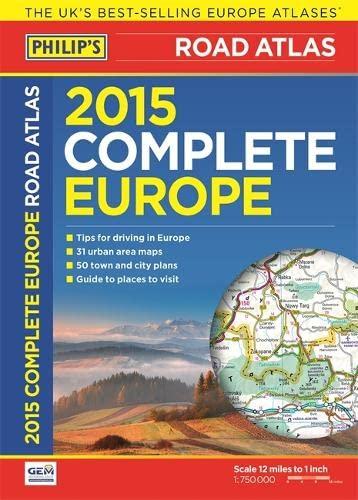 Philip's Complete Road Atlas Europe 2015