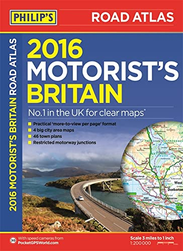 Philip's Motorist's Road Atlas Britain 2016 By Philips