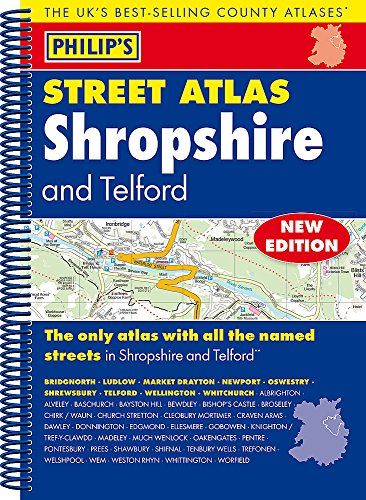 Philip's Street Atlas Shropshire and Telford By Philip's Maps