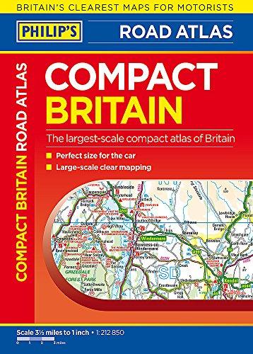 Philip's Compact Britain Road Atlas By Philip's Maps