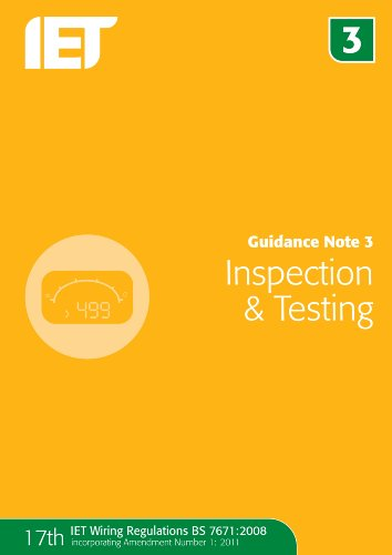Guidance Note 3: Inspection & Testing By Iet