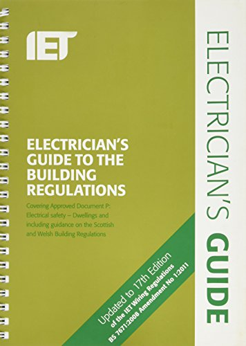 Incredible Electricians Guide To The Building Regulations 3Rd Edition Iet Wiring Digital Resources Funapmognl