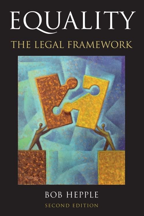 Equality: The Legal Framework By Bob Hepple