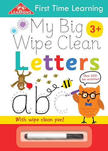First Time Learning Wipe Clean-Letters By Kay Massey