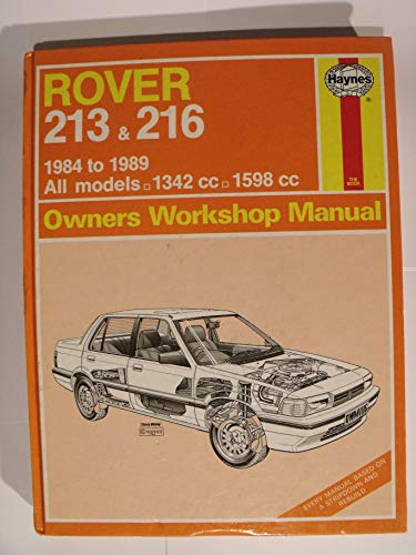Rover 213 and 216 1984-89 Owner's Workshop Manual By Peter G. Strasman