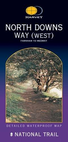 North Downs Way(West): Farnham to the Medway (Route Map) By Harvey Map Services Ltd.
