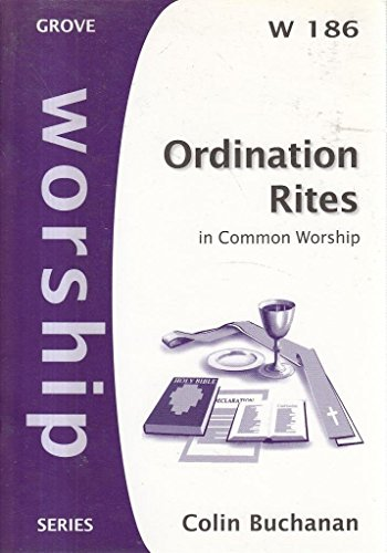 Ordination Rites By Colin Buchanan