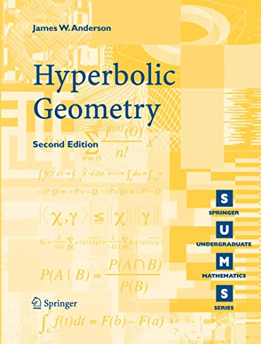Hyperbolic Geometry By James W. Anderson