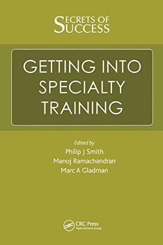 Secrets of Success: Getting into Specialty Training By Manoj Ramachandran (Barts Health NHS Trust, London, UK)