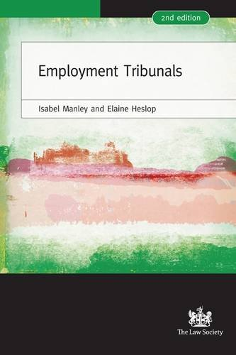 Employment Tribunals: A Practical Guide by Isabel Manley