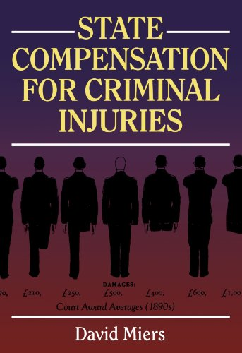 State Compensation for Criminal Injuries By David Miers (Professor of Law and Director of the Centre for Professional Legal Studies at Cardiff Law School)