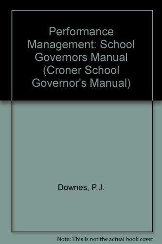 Performance Management By P.J. Downes
