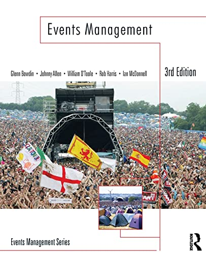 Events Management By Glenn A. J. Bowdin