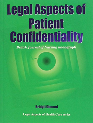 Legal Aspects of Patient Confidentiality By Bridgit C. Dimond
