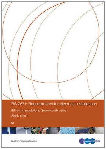 Bs 7671  Requirements For Electrical Installations Iee