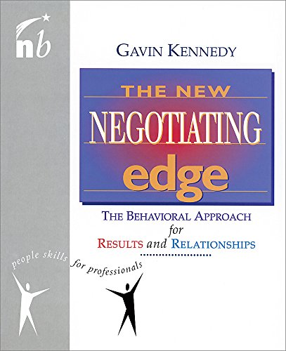 The New Negotiating Edge By Gavin Kennedy