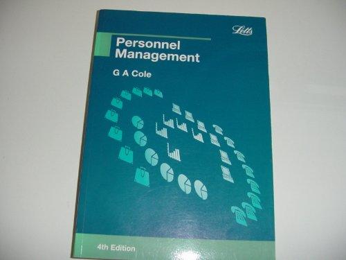 Personnel Management By G. A. Cole