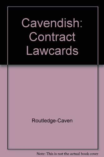 Contract Law Cards by Cavendish Publishing