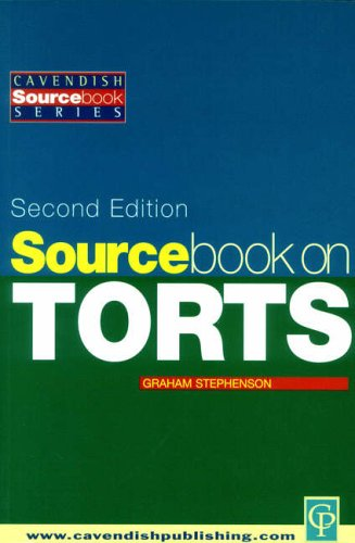 Sourcebook on Tort Law 2/e By Graham Stephenson