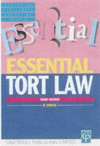 Essential Tort Law By Owen