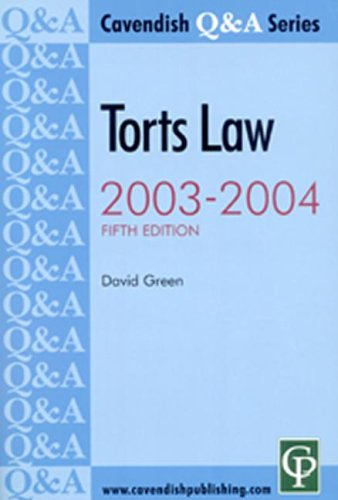 Torts Q&A 2003-2004 5/e By David Green