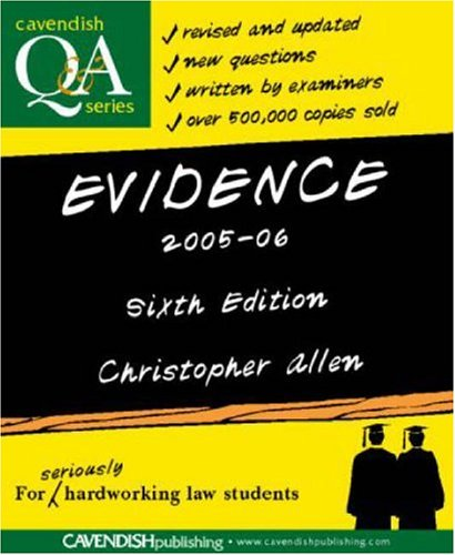Evidence Q&A 2005-2006 By Christopher Allen