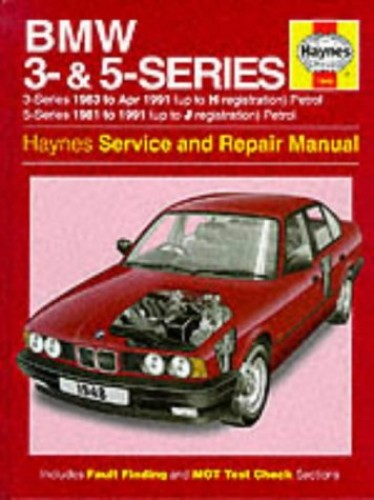 BMW 3 and 5 Series Service and Repair Manual (Haynes Service and Repair Manuals) By A. K. Legg