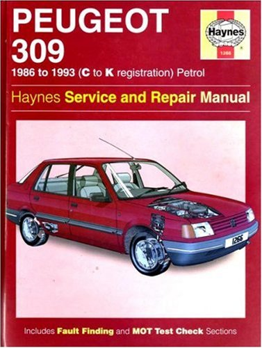 Peugeot 309 Service and Repair Manual By Ian Coomber