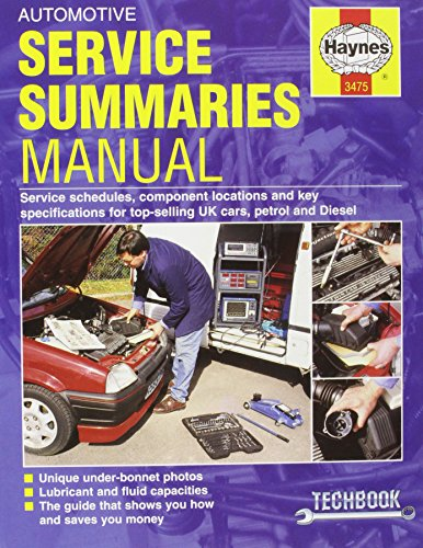 Automotive Service Summaries and Specifications Manual By James Robertson