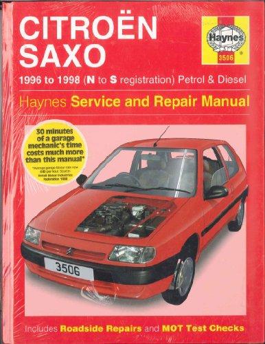 Citroen Saxo Service and Repair Manual By Spencer Drayton