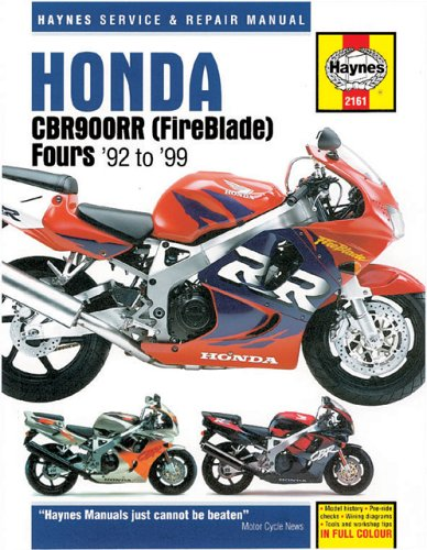 Honda CBR900RR Fireblade (1992-99) Service and Repair Manual By Penelope A. Cox