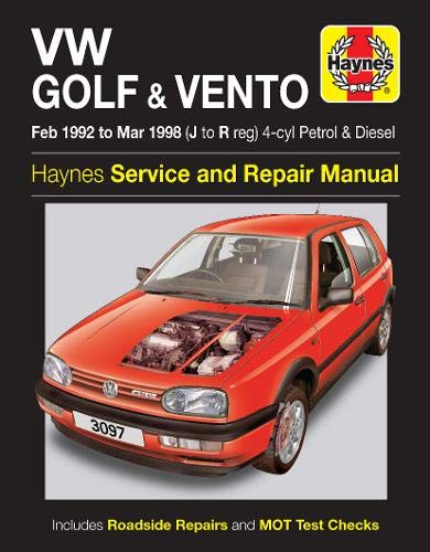 VW Golf and Vento Service and Repair Manual: Petrol and Diesel 1992 to 1998 by Mark Coombs
