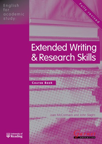 English for Academic Study - Extended Writing & Research Skills Course Book - Edition 1 By Joan McCormack