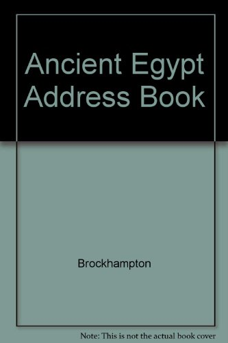 Ancient Egypt Address Book By Brockhampton