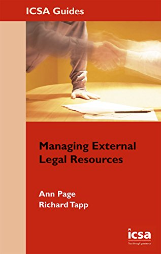 Managing External Legal Resources By Ann Page