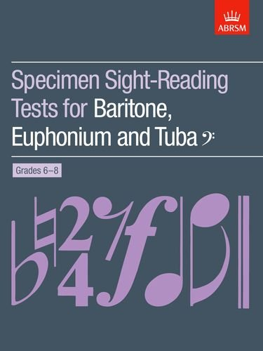 Specimen Sight-Reading Tests for Baritone By Abrsm