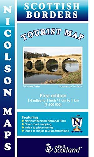 Borders Tourist Map By Malcolm Nicolson
