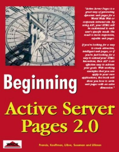 Beginning Active Server Pages 2.0 By Brian Francis