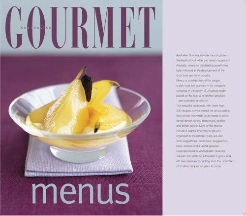 Australian Gourmet Menus By Mary Coleman