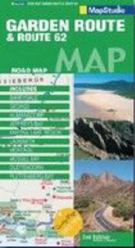 Garden Route and Route 62 Road Map By Map Studio