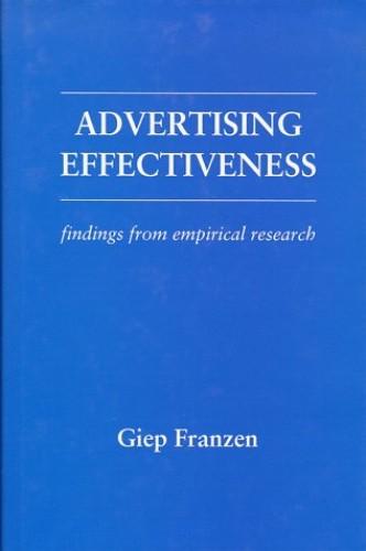 Advertising Effectiveness By Giep Franzen