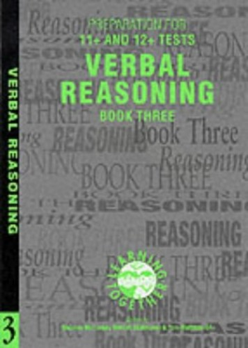 Preparation for 11+ and 12+ Tests: Book 3 - Verbal Reasoning By Stephen McConkey