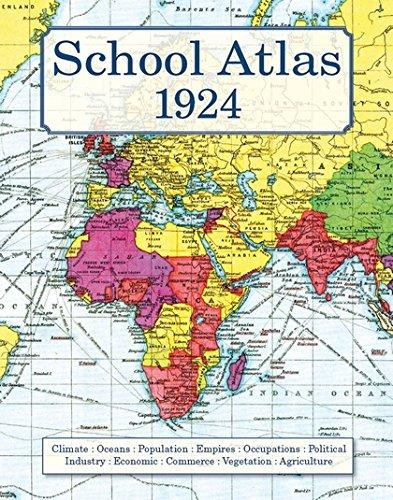 School Atlas 1924 By J G Bartholomew