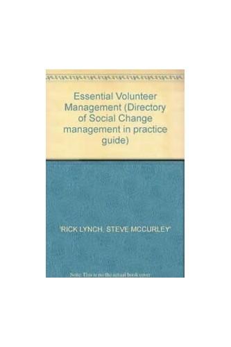 Essential Volunteer Management By Richard L. Lynch