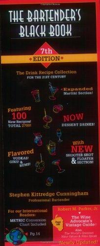 The Bartender's Black Book By Stephen Kittredge Cunningham