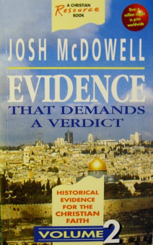Evidence That Demands a Verdict: Volume Two by McDowell, Josh Paperback Book The