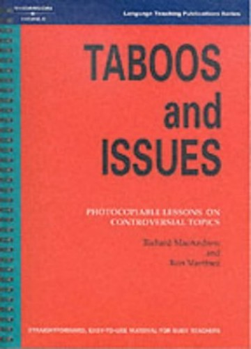 Taboos and Issues By Richard MacAndrew